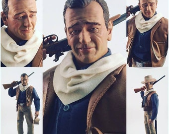 John Wayne The Duke action figure. Very Rare, Sculpted by Rocco Tartamella