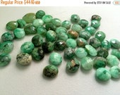 50% ON SALE Chrysoprase Cabochons, Chrysoprase Rose Cut, Sea Green Beads, Loose Chrysoprase 12mm To 15mm, 5 Pieces