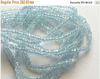 51% ON SALE Topaz, Blue Topaz Beads, Original Blue Topaz, Topaz Rondelle Faceted Beads, Blue Topaz Necklace, 3mm Each, 13 Inch