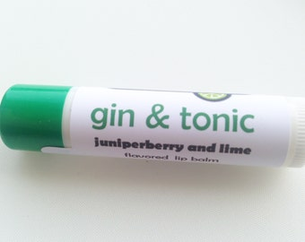 Gin & Tonic lip balm - juniper and lime flavored lip balm