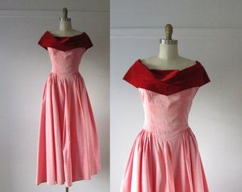 Little Darling / vintage 1950s gown / 50s dress