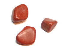 3 Tumbled Red Jasper Loose Gemstones, 18.7g, Red Jasper for Wire Wrapping, Pocket or Healing Stones On Sale!