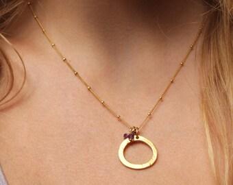 Vermeil Circle Necklace