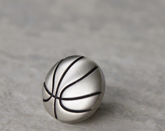 Sports Gift, Basketball Gifts, Basketball Pin, Basketball Tie Tack, Gift for Him, Gift for Coach, Clutch Pin, Team Gifts, Tie Pin, Sport