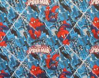 ON SALE Spiderman Print Pure Cotton Fabric--One Yard