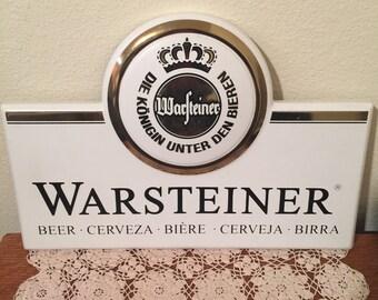 Warsteiner Retro Beer Sign Advertising Vintage Plastic German