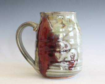 Large Coffee Mug, 21 oz, unique coffee mug, ceramic cup, handthrown mug, stoneware mug, wheel thrown pottery mug, ceramics and pottery