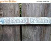SUMMER SALE Mermaid Sign / Mermaid Decor / Metal Wall Sign / Wall Mermaid Sign / Beach / Nautical / Ocean