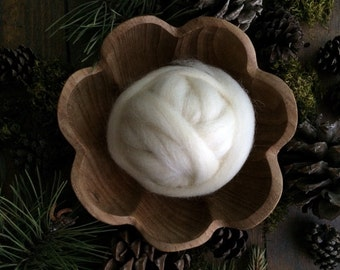 Wool for needle felting, Natural White, 1/2 ounce or 1 ounce, white wool roving craft supply for DIY needle felting projects, wool for felt
