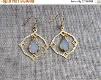 SALE Druzy Teardrop Earrings, Druzy Earrings, Druzy Gold Earrings, Druzy Jewelry, Druzy, Boho Earrings, Gypsy Earrings, Gold Earrings, OOAK
