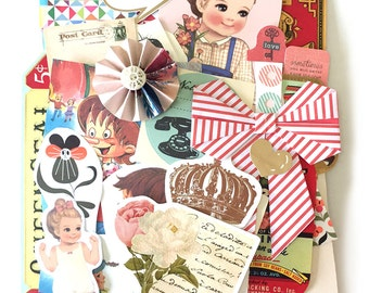 Bits and pieces scrap pack - Vintage paper scraps 3