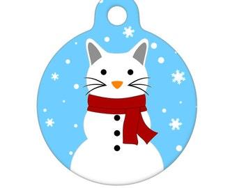 Pet ID Tag - SnowCat Pet Tag, Cat Tag, Luggage Tag, Child ID Tag