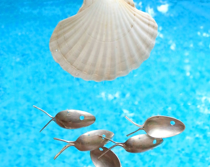 Summer Shell Windchime, Camping Glamping Adventurer Gift Trip, Welcoming Outdoor Space, Boy Girl Scouts, Evening Relaxation Entertainment
