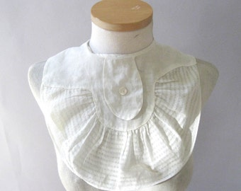 Vintage 1930s Voile and Cotton Collar