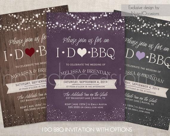 Wedding Reception Invitation Email: I DO BBQ Invitations Printable I Do Barbeque Wedding Reception