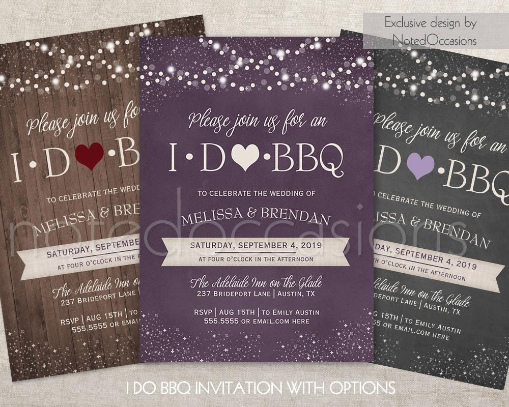 Backyard Bbq Wedding Invitations: I DO BBQ Invitations Printable I Do Barbeque Wedding Reception