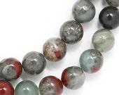MOVING SALE African Bloodstone Beads - 8mm Round - Full Strand