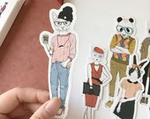 30 Pcs Fashionista Bookmark - Die Cut Cardstock Scrapbook Embellishment
