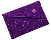 Business Card Holder - Purple Lavender Bubble Circles Card Case (LIMITED EDITION)