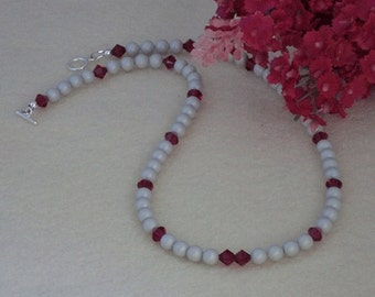Swarovski Crystal Pearl Necklace In Pastel Gray   FREE SHIPPING