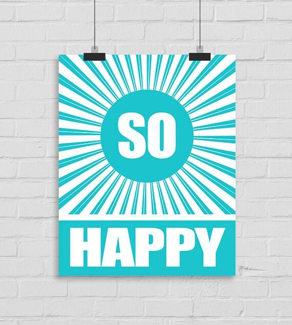 Sentiments Printable Wall Art Happy Joyful Wall Art Inspirational Print Custom Wall Print Poster