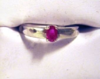 Simple Genuine Ruby Ring Sterling Silver blue sapphire Emerald custom sizes faceted red natural handmade size 4 5 6 7 8 9 10 fine jewelry