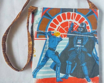 Star Wars tote purse  featuring Darth Vader upcycled vintage style
