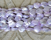 Purple coin Baroque Freshwater Cultured Pearl Gemstone Beads ,Biwa Stick Real Pearl Freshwater Cultured pearl loose beads