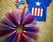 Captain America Tutu Costume Halloween Costume Dress up