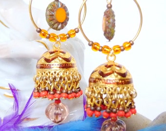 SALE!! Golden Rajasthan Sunset Jhumkas SALE!!