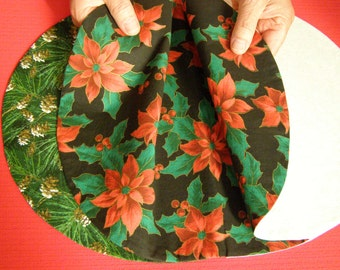 Placemat Four-Sided Christmas/Winter seasonal designs