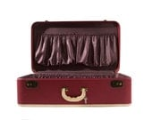Vintage Suitcase in Red
