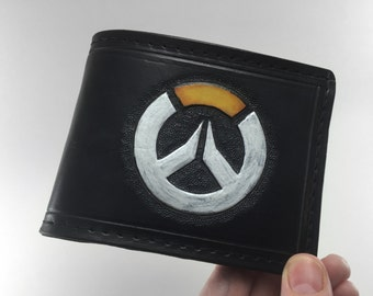 Overwatch Inspired Hand Tooled Leather Wallet