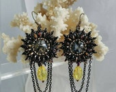 LoveU Starbursts Bead Embroidered Earrings