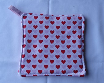 Valentine's Day Heart Pot Holder Potholder