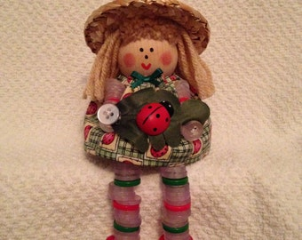 Dailey's Darlings - Ladybug  Button Doll