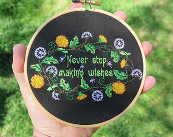 Make a Wish Hoop Art