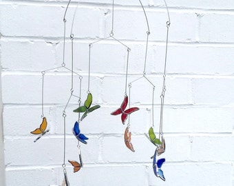 Stained Glass Butterfly Mobile