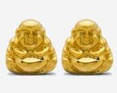 Yellow Gold Buddha Earrings