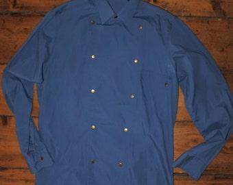 Vintage Bib Front western cowboy shirt S