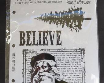 Tim Holtz Collection - Stampers Anonymous Just Believe Stamp Set  CMS031