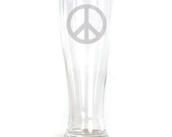 Pilsner Glass - 19oz - 9576 Peace Sign