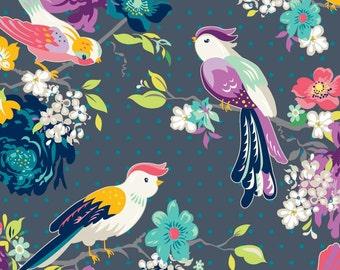 Hello Birdie 623  GIGI BLOOMS  -  by Adornit Fabrics  - By the Yard