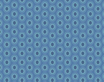 Oval Elements in SAPPHIRE (OE-932) - Pat Bravo - Art Gallery Fabrics - By the Yard