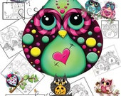 Owl Coloring Book - Coloring Book - Owl Coloring Sheets - Owl Adult Coloring Book - Owl Outline Art - Owl Designs - Coloring Book  Owls