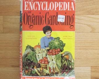 How To Garden Book, Encyclopedia of Organic Gardening Book, 1970s Vintage Rodale Press Book