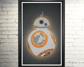 BB8 Poster Art Print Typography