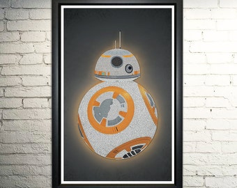 BB8 word art print - 11x17""