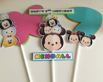 TSUM TSUM Mickey & Friends Birthday Party Centerpiece Picks / Sticks
