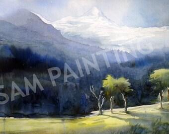 Beauty of Himalaya - Watercolor on Paper